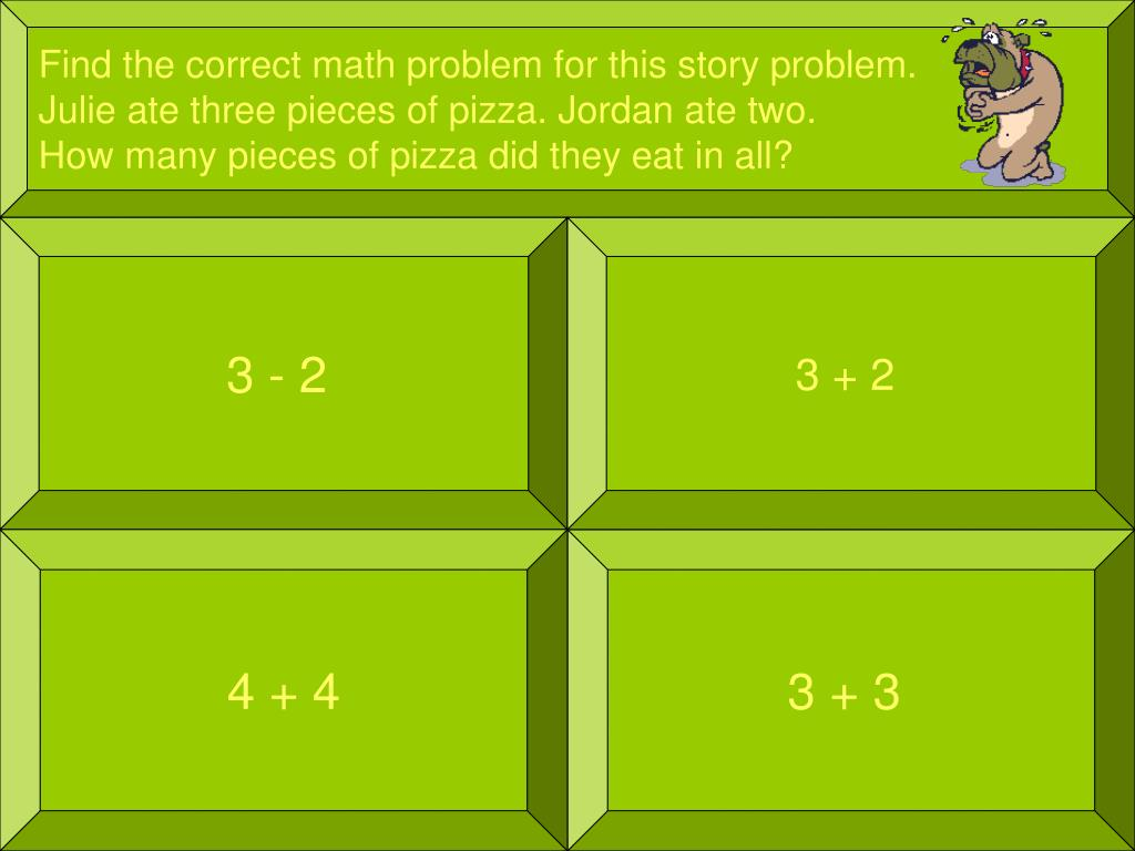 Find the correct math problem for this story problem.