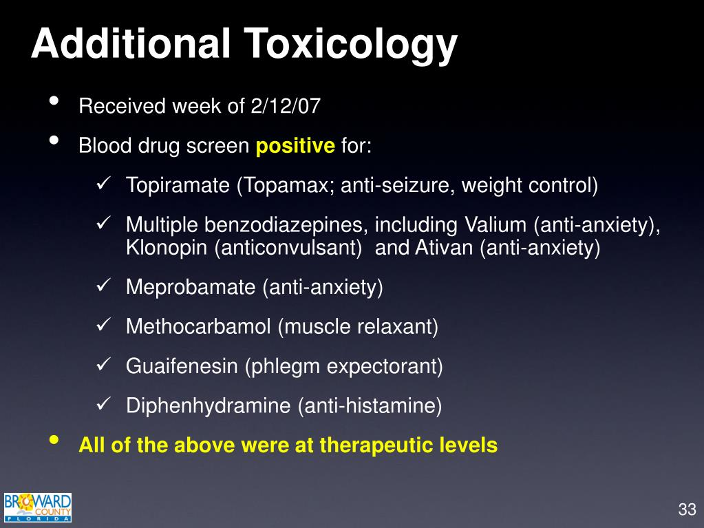 Additional Toxicology
