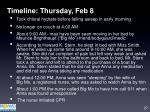 timeline thursday feb 8