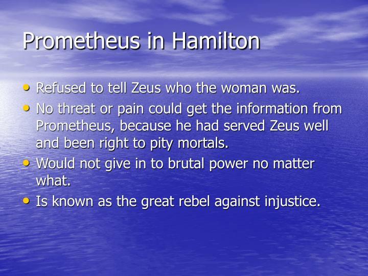 Prometheus in Hamilton