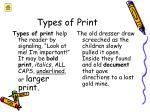 types of print