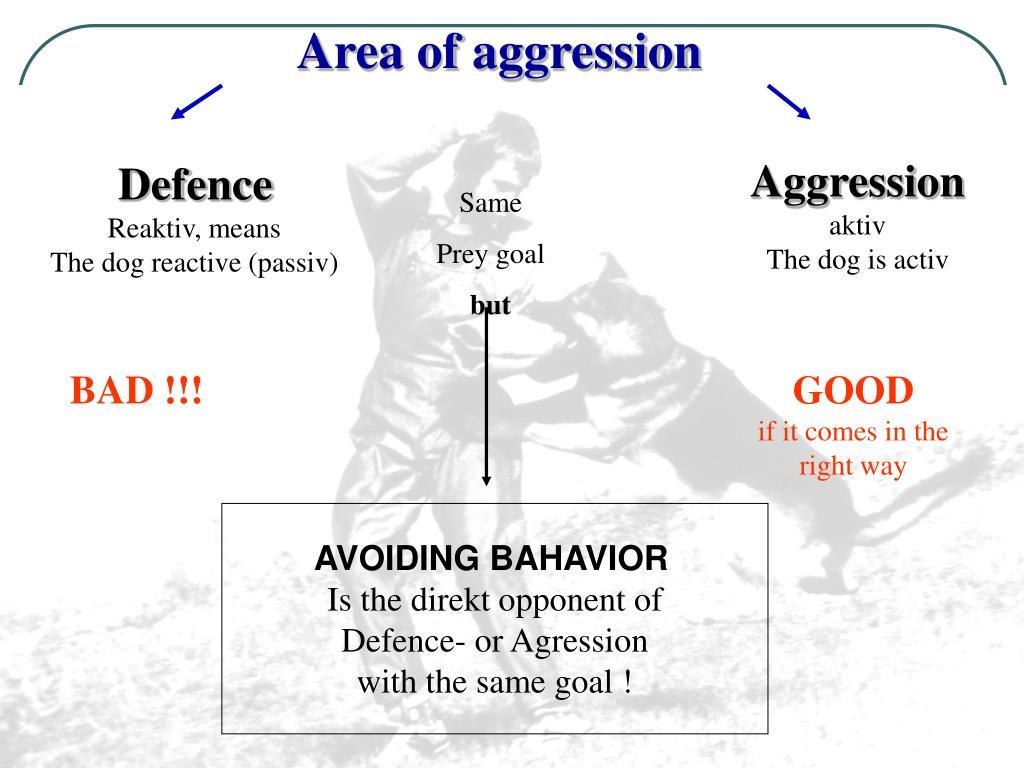 Area of aggression