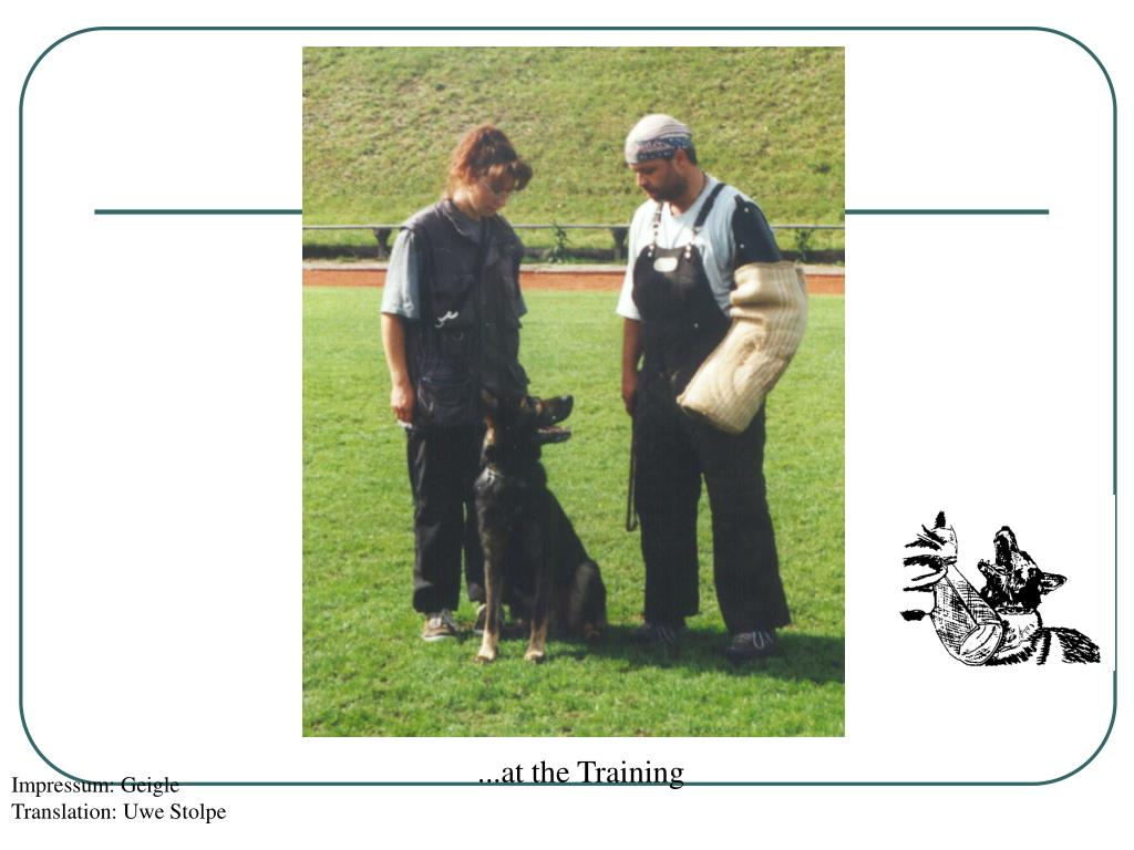...at the Training
