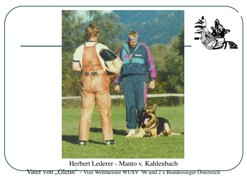 Herbert Lederer - Manto v. Kahlenbach