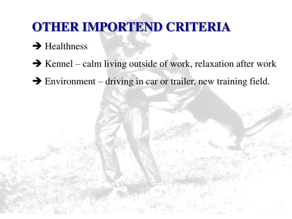 OTHER IMPORTEND CRITERIA