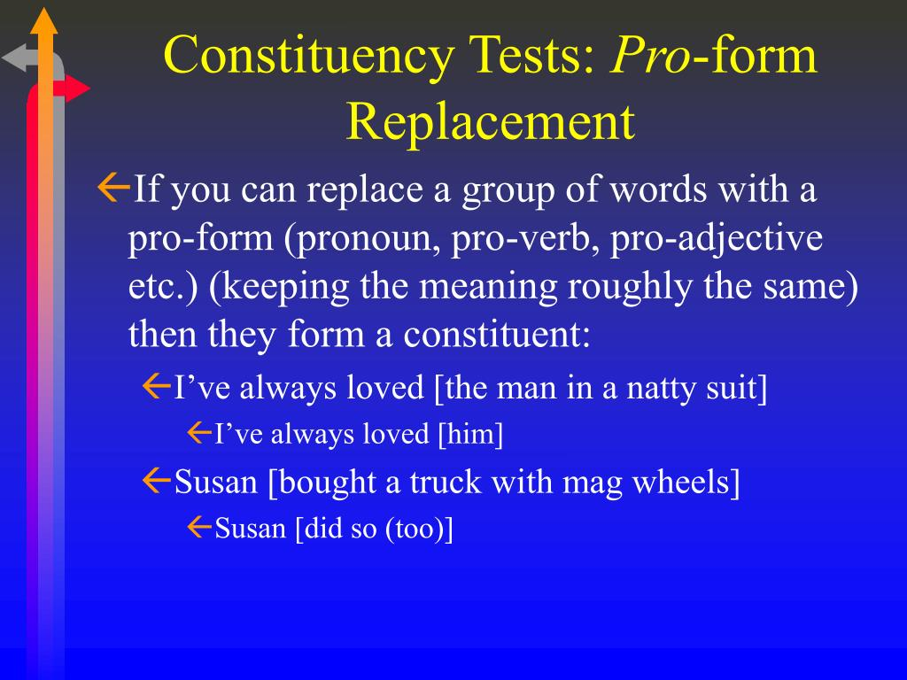 Constituency Tests: