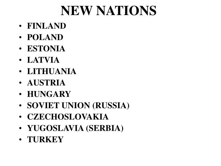 NEW NATIONS