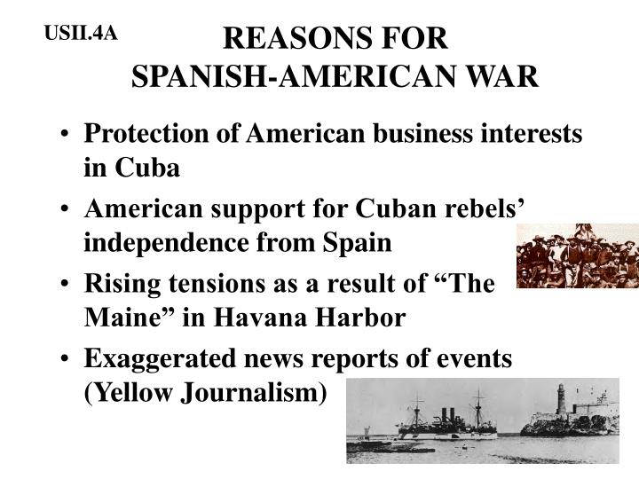 Reasons for spanish american war