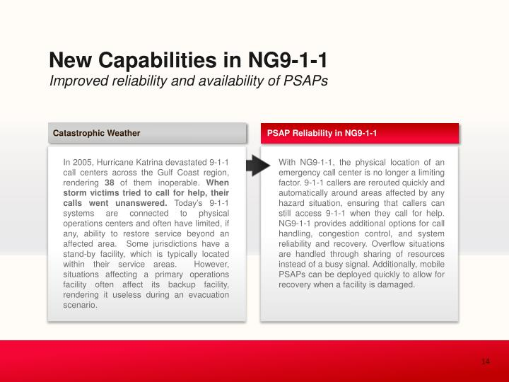 New Capabilities in NG9-1-1