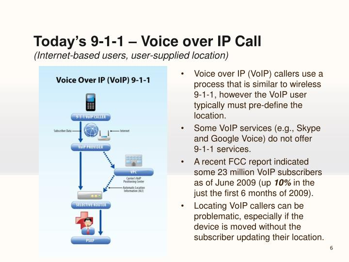 Today's 9-1-1 – Voice over IP Call