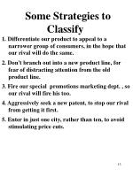 some strategies to classify