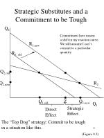 strategic substitutes and a commitment to be tough