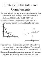 strategic substitutes and complements5