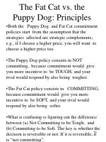 the fat cat vs the puppy dog principles