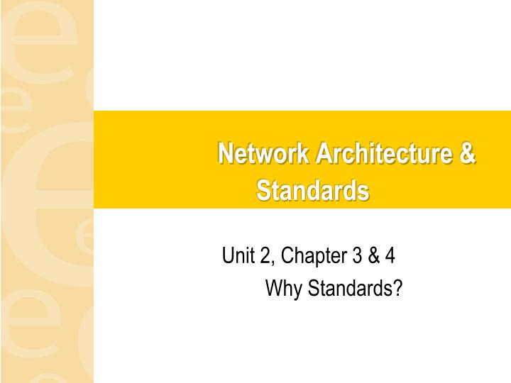 network architecture standards n.