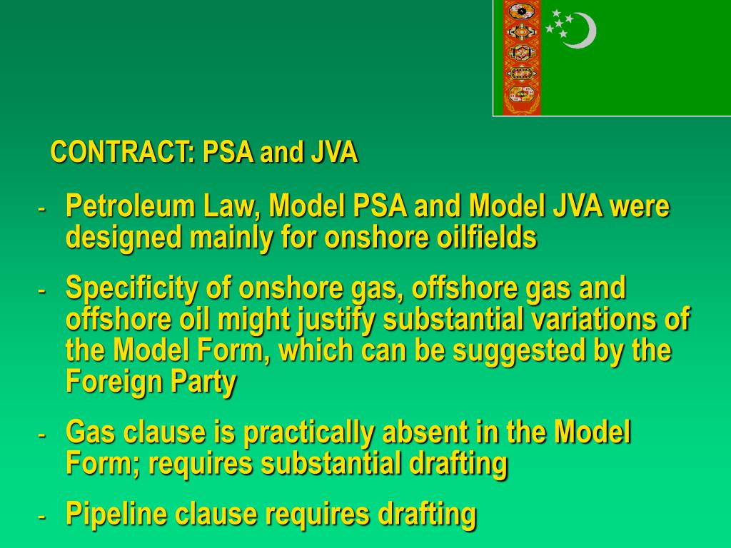 CONTRACT: PSA and JVA