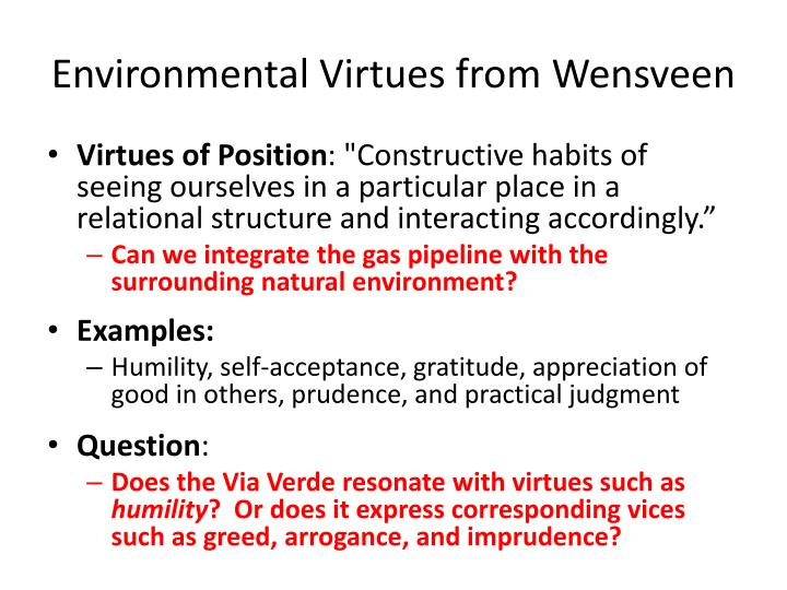 Environmental Virtues from