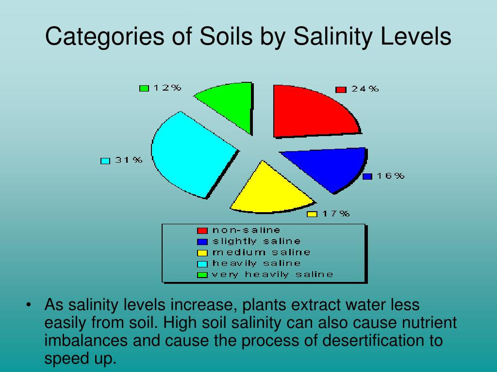 Categories of Soils by Salinity Levels