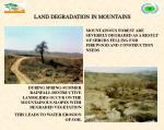 land degradation in mountains
