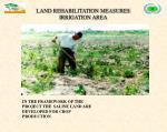 land rehabilitation measures irrigation area