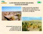 land rehabilitation measures karakum desert