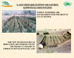 land rehabilitation measures kopetdag mountains
