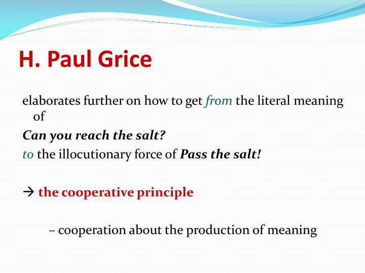 H. Paul Grice
