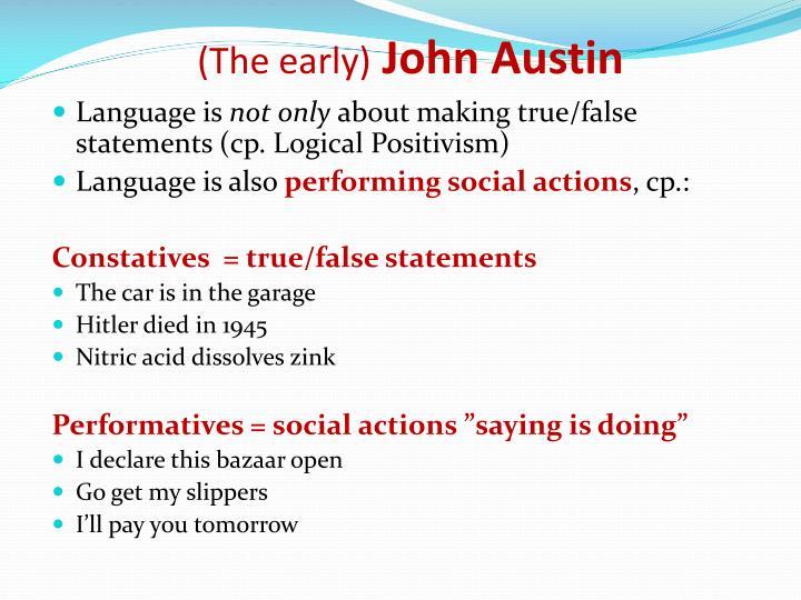The early john austin