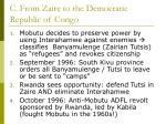 c from zaire to the democratic republic of congo