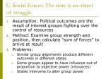 c social forces the state is an object of struggle