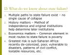 d what do we know about state failure