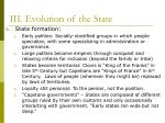 iii evolution of the state