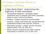 iv future of the state threats to legitimacy and power