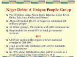 niger delta a unique people group