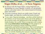 niger delta et al a new nigeria