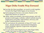 niger delta youth way forward