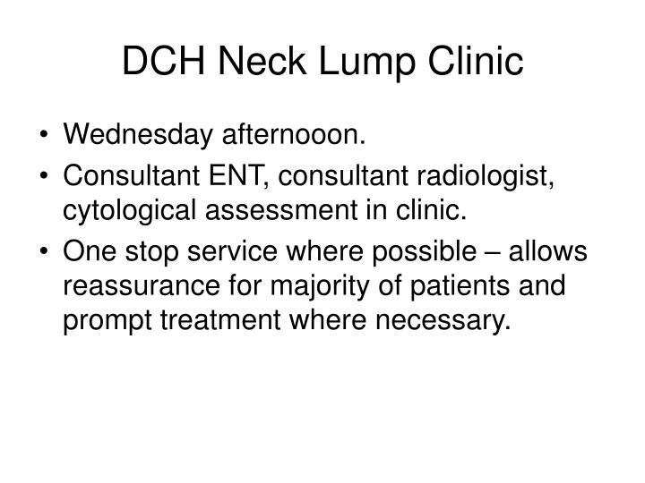 DCH Neck Lump Clinic