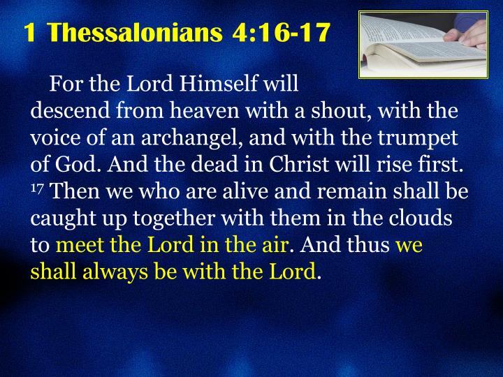 1 thessalonians 4 16 17