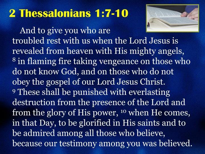 2 Thessalonians 1:7-10
