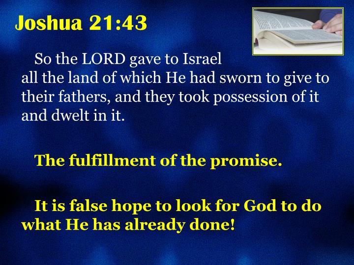 Joshua 21:43