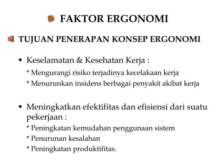 FAKTOR ERGONOMI