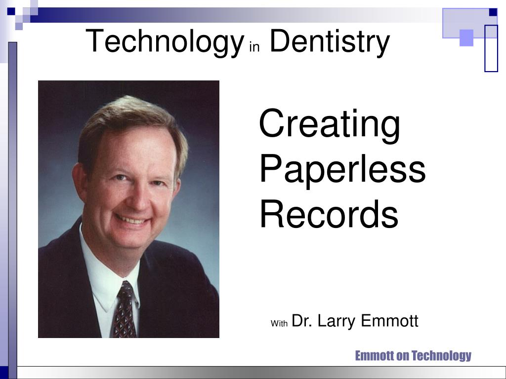 technology in dentistry l.
