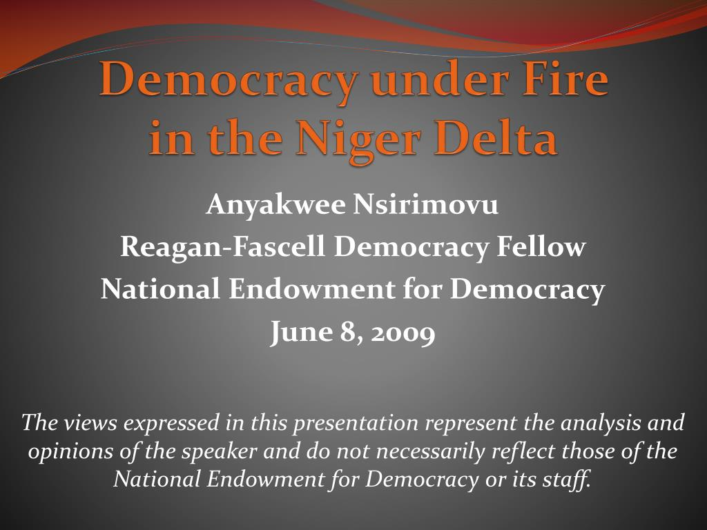 Democracy under Fire