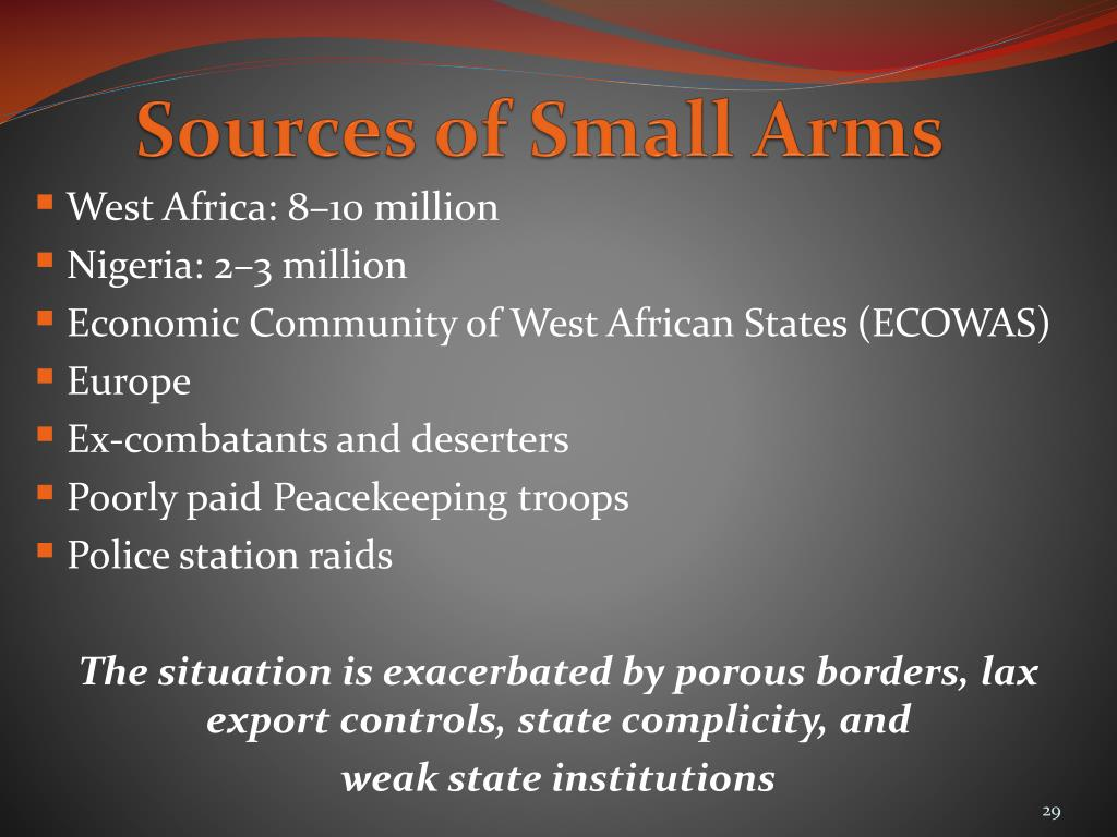 Sources of Small Arms