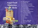 angel food ministries sample menu