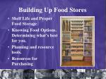 building up food stores