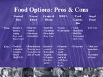 food options pros cons