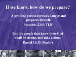 if we know how do we prepare