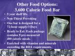 other food options 3 600 calorie food bar