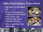 other food options freeze dried